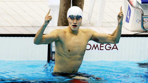 New 400m Olympic Freestyle record for China's Yang   London 2012 Replays