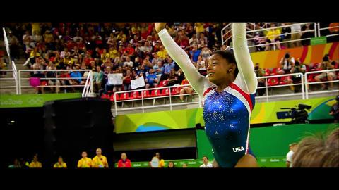Simone Biles visits set of movie about her life!