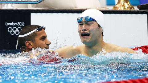 China's Yang smashes 1500m Freestyle world record   London 2012 Replays