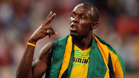 بولت يحطم الرقم العالمي في الـ 100 متر في بكين 2008