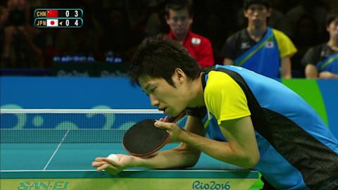 Der Liebesblick der Tischtennisspieler