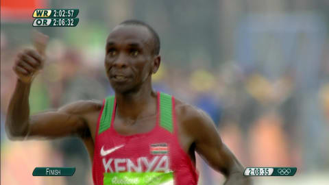 Kipchoge takes first Olympic gold in the Rio rain