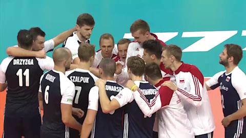 Reigning champions Poland scrape into Final Six