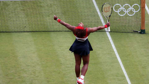 Serena Williams wins singles gold at London 2012
