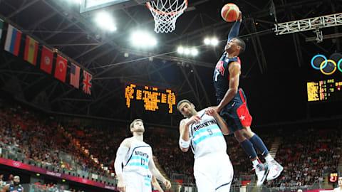 Westbrook dunks against Argentina