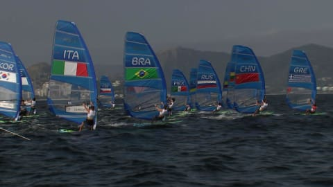Sailing @ Rio 2016 - Outside of the bay - Men's RS:X Race 5