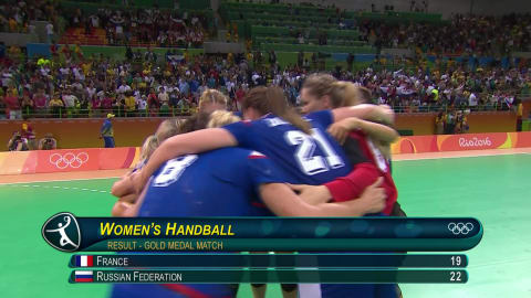 Russia win Women's Handball gold