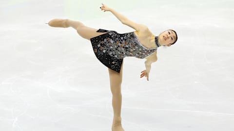 Le programme court de la patineuse sud-coréenne Kim Yuna à Vancouver 2010
