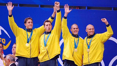 Australia grabs gold in the Men's 4x100 freestyle relay | Sydney 2000