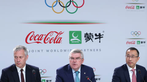 IOC, Coca-Cola, and China Mengniu Dairy company announce joint worldwide Olympic partnership to 2032