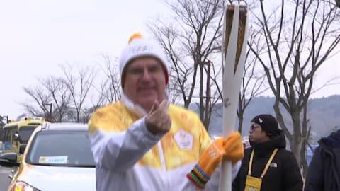Der letzte Tag des Olympischen Fackellaufes