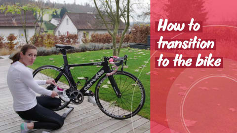 الترياثلون: كيفية الانتقال للدراجة