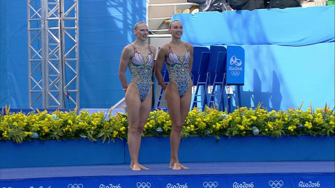 Russian pair win Synchronised Swimming gold