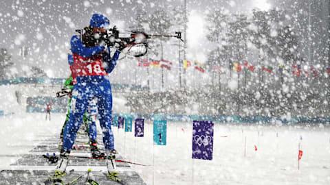 Winter Wonderland engulfs Women's Biathlon in PyeongChang