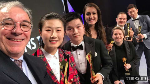 Top Table Tennis awards go to China's Fan Zhendong and Ding Ning in glitzy ceremony