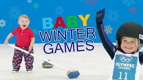 Si los bebés compitiesen en los Juegos Olímpicos de Invierno