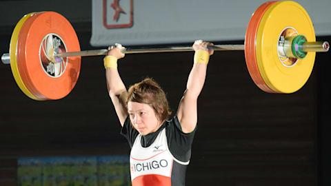 重量挙げ全日本選手権初日:女子49kg級の三宅宏実が負傷で途中棄権