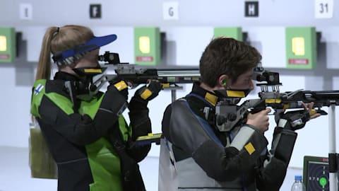 Mixed International Team 10m Air Rifle – Shooting | YOG 2018 Highlights