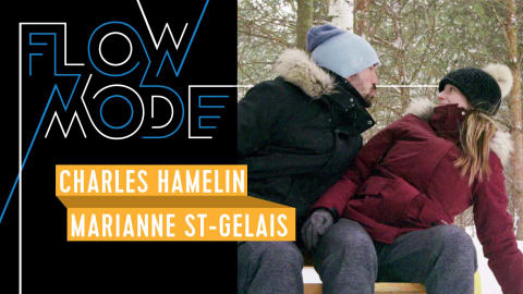 Watch Canada's Charles Hamelin and Marianne St-Gelais race in an ice forest
