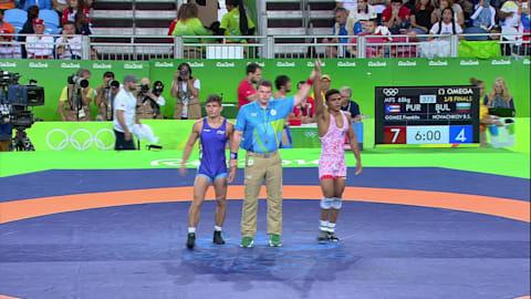 Franklin GOMEZ (PUR) bateu Borislav Stefanov NOVACHKOV (BUL), 7-4