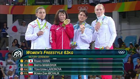 Kawai rafle l'or en lutte libre