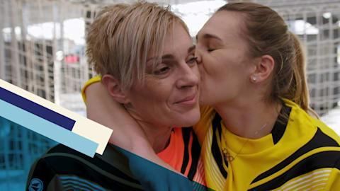 How family helped Sara Kolak shock the world in winning javelin gold
