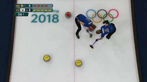 SWE v KOR (Round Robin) - Women's Curling | PyeongChang 2018 Replays