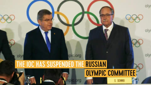 IOC-Präsident Thomas Bach erklärt die Russland-Sperre