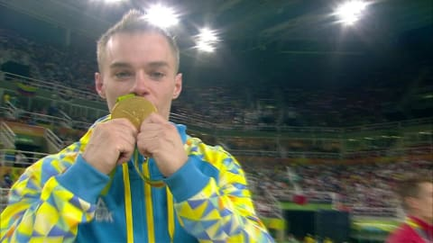 Verniaiev wins Men's Parallel Bars gold