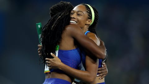 The best of the women's 4x100 track relay