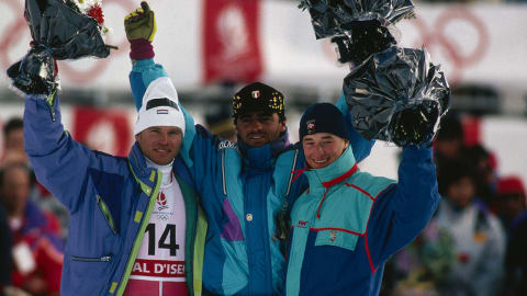 Alberto Tomba's gold medal giant slalom run | Albertville 1992