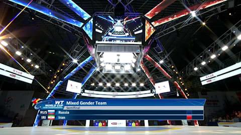 Полуфинал 1, смешанные команды | Чемпионат мира по тхэквондо - Уси