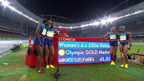 Women's 4x100 Final | Rio 2016 Replays