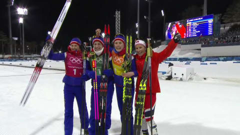 Revezamento (F) - Esqui Cross-Country | Replays de PyeongChang 2018