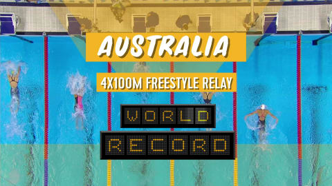 Australia set world record en route to relay gold