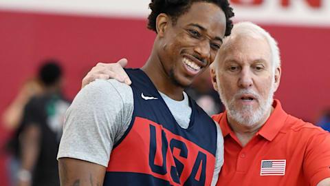 Equipe de basquete dos EUA se prepara para 2020 em Las Vegas
