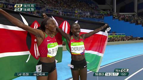 Kenia se hace con la medalla de plata en el 5.000 metros femenino