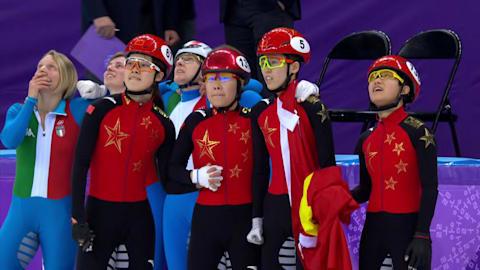 تتابع سيدات، الذهبية - تزلج على مضمار قصير | 2018