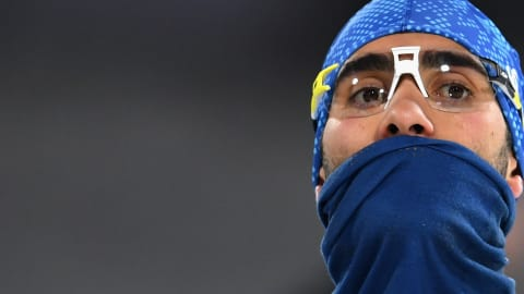 Fourcade is frightened of something...