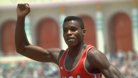 Los Angeles 1984 - Lewis wins the 100m final