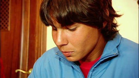 Rafael Nadal all'età di 16 anni