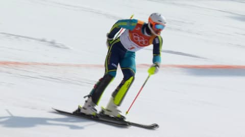 Myhrer wins Men's Slalom with steady second Run | Alpine Skiing