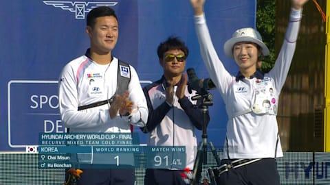 韓国が開催国下しリカーブ混合団体優勝