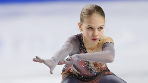 Quad power propels Trusova to junior worlds repeat