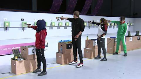 Mixed International Team 10m Air Pistol – Shooting | YOG 2018 Highlights