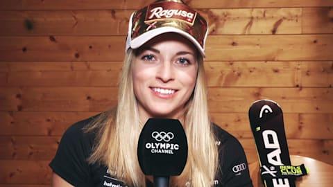 لارا غوت تصف منافساتها في التزلج الألبي بكلمة واحدة