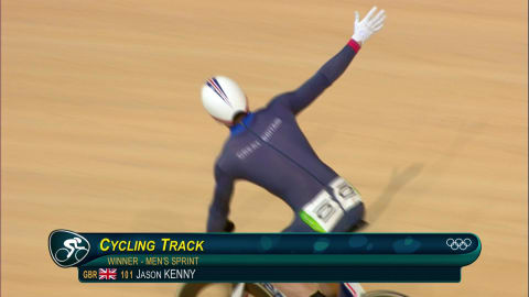 Team GB's Kenny Sprint Track Cycling gold