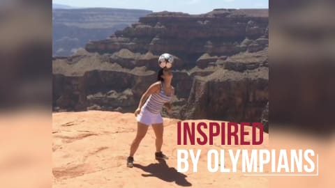 Football Trick Shots I Inspired by Olympians