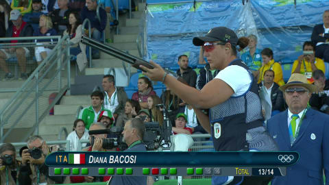 Italy take gold and silver in Women's Skeet Shooting