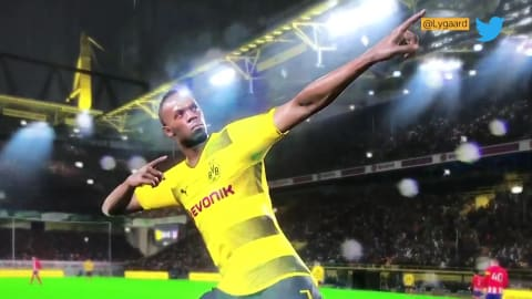 Bolt aiming to make virtual football dream a reality